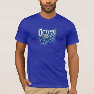 Octopi Distressed logo - Blue T-Shirt
