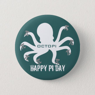 Octopi Pi Day 2 Inch Round Button
