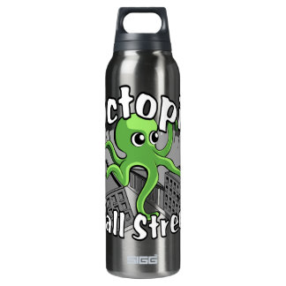 Octopii Wall Street - Occupy Wall St! Insulated Water Bottle
