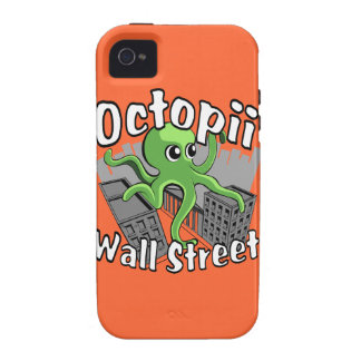 Octopii Wall Street - Occupy Wall St! iPhone 4 Covers
