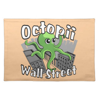 Octopii Wall Street - Occupy Wall St! Place Mat