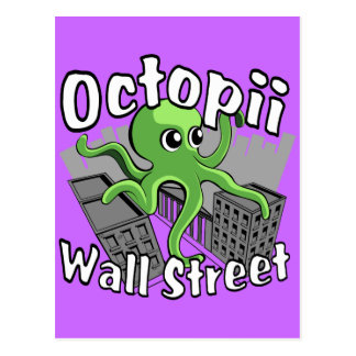 Octopii Wall Street - Occupy Wall St! Postcard