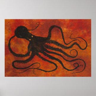 "Octopus 5 - 36"" x 24"" Poster"
