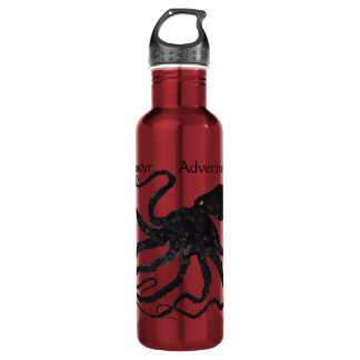 Octopus 6 Black On Red, Anadyr - 24 oz. Bottle