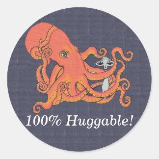 Octopus and Alien Friend 100% Huggable Sticker