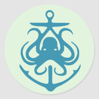 Octopus And Anchor Nautical Stickers