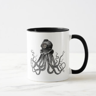 Octopus and Diving Helmet Mug