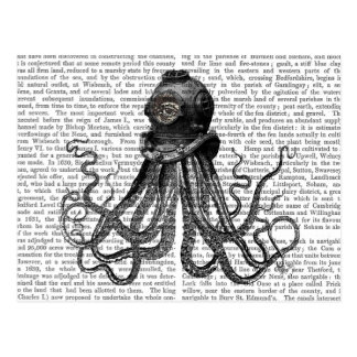 Octopus and Diving Helmet Postcard