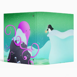 octopus and penguin - binder / folder