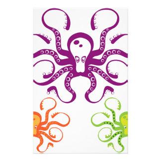 Octopus Art Custom Stationery