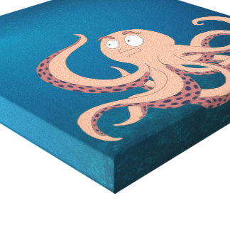 Octopus Art Print on Wrapped Canvas
