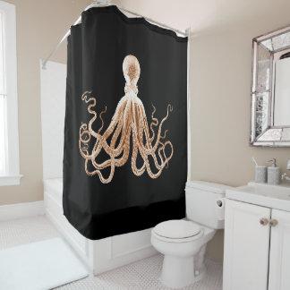 Octopus beach coastal ocean nautical black