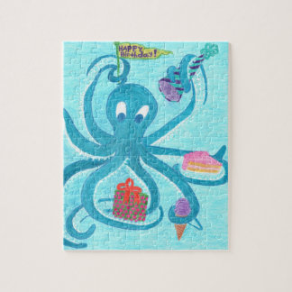 "Octopus Birthday 8""x10"" Puzzle (comes in Tin Box)"