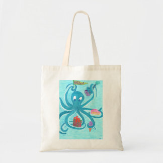 Octopus Birthday Tote Bag