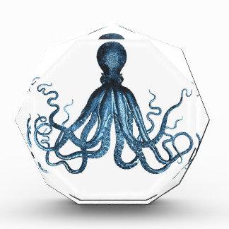 Octopus blue nautical coastal pattern