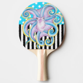 Octopus Blue Pattern Ping Pong Paddle