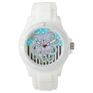 Octopus Blue Pattern Watch