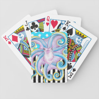 octopus blue polka dot bicycle playing cards
