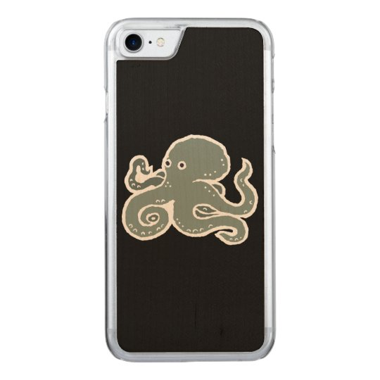 Octopus Carved iPhone 7 Case