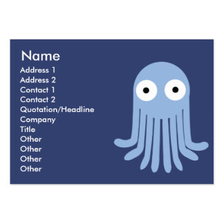 Octopus - Chubby Large Business Card