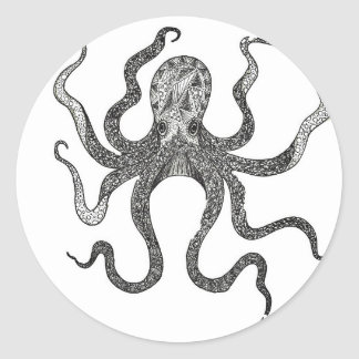 Octopus Classic Round Sticker