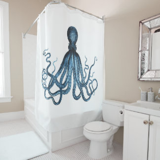 Octopus coastal ocean beach nautical blue