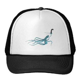 Octopus Faking Lochness Trucker Hat