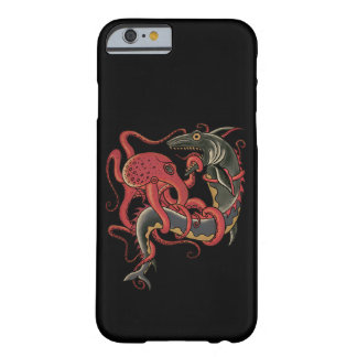 octopus fighting a shark barely there iPhone 6 case