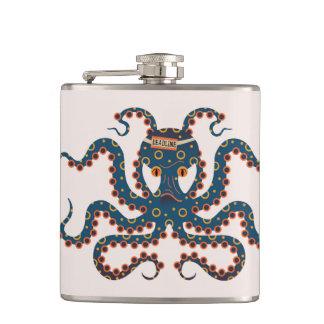 octopus hip flask