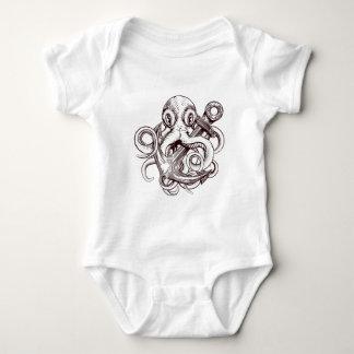 Octopus Holding Anchor Baby Bodysuit