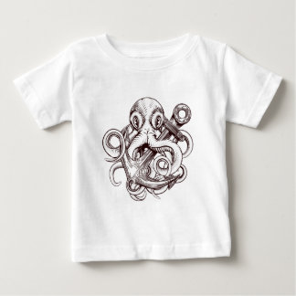 Octopus Holding Anchor Baby T-Shirt