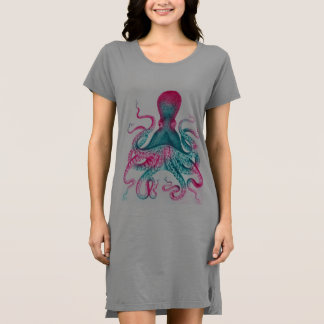 Octopus illustration - vintage - kraken dress
