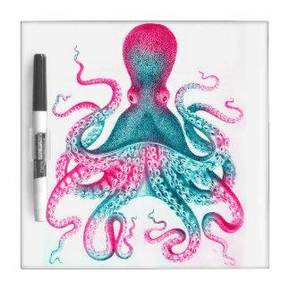 Octopus illustration - vintage - kraken dry erase board