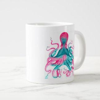 Octopus illustration - vintage - kraken large coffee mug