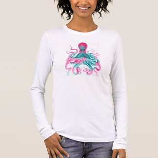 Octopus illustration - vintage - kraken long sleeve T-Shirt