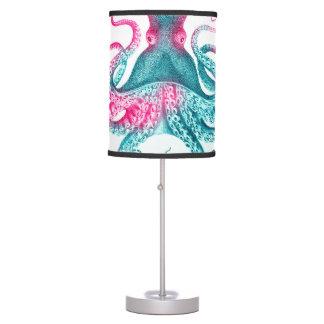 Octopus illustration - vintage - kraken table lamp