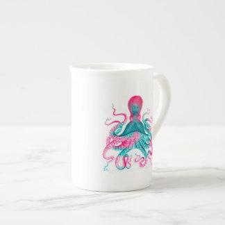 Octopus illustration - vintage - kraken tea cup