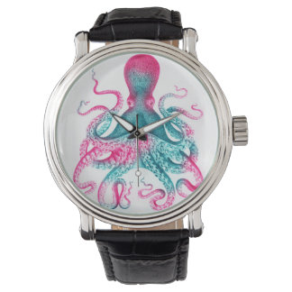 Octopus illustration - vintage - kraken watch