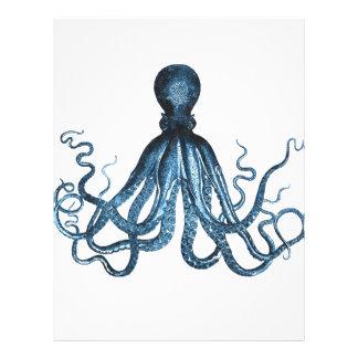 Octopus kraken nautical coastal ocean beach sea letterhead