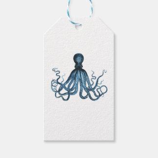Octopus kraken nautical coastal ocean beach sea pack of gift tags
