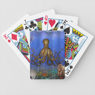 Octopus' Lair - Colorful Bicycle Playing Cards