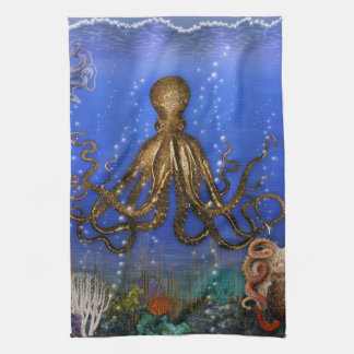 Octopus' Lair - Colorful Towel