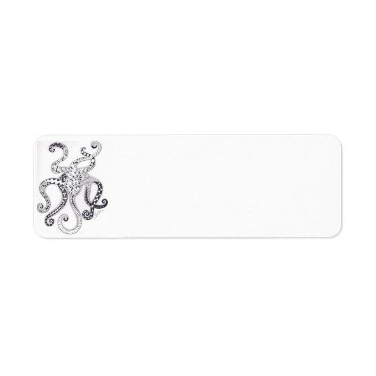 Octopus Mailing Label Return Address Label
