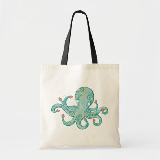 Octopus mittens tote bag