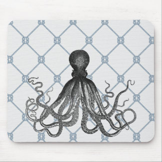 Octopus  - Nautical Mouse Pad