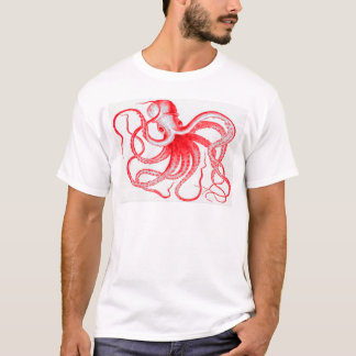Octopus Nautical Steampunk Vintage Kraken Monster T-Shirt