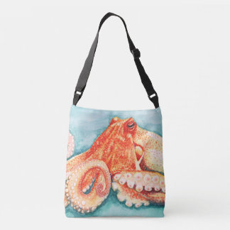 Octopus Nautical Tote Bag Handbag Purse Gift