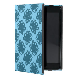 Octopus On Blue Pattern Cover For iPad Mini