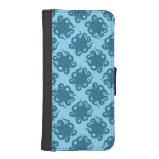 Octopus On Blue Pattern iPhone 5 Wallet