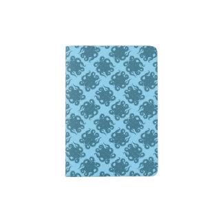 Octopus On Blue Pattern Passport Holder